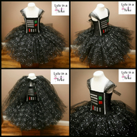 Darth Vader from Star Wars Space Inspired Tutu Dress to fit 7-8 years old