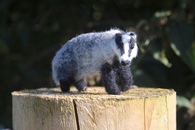 Needle felting kit - Badger