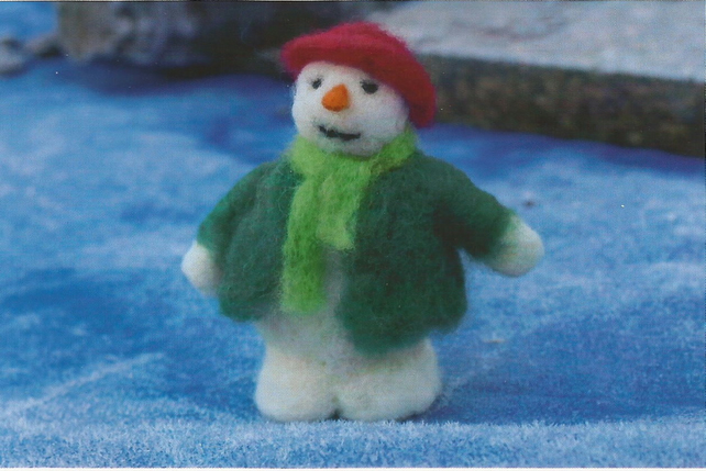Snowman  Needle felting kit for beginners