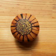 Pyrography wooden Daisy knobs