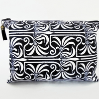 Canvas Wash bag,Art Nouveau, Monochrome, travel bag, cosmetic bag