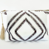 Canvas Wash bagboho, gypsy, bohemian, travel bag, cosmetic bag, zip bag