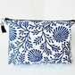 Dumpy Bag, Indian block print, boxy bag, travel bag, cosmetic bag, zip bag