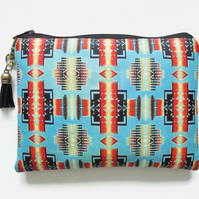 Travel Pouch, Navajo, Aztec, travel wallet, zipper pouch.