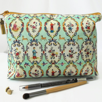 Wash bag, chinese, mint green, travel bag, cosmetic bag, zip bag, make up bag.