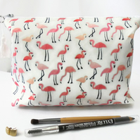 Wash bag, flamingo, travel bag, cosmetic bag, zip bag, make up bag, dumpy bag, b