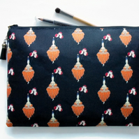 Wash bag, Erte inspired, art deco, 1920s, pocket bag, travel bag, cosmetic bag,