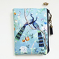 Chinoiserie, sewing pouch, zipper wallet, cometic bag, zipper wallet, small bag.