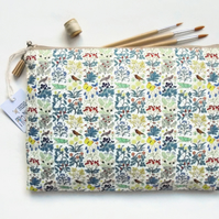 Wash bag, grasshoppers woodland forest, travel bag, cosmetic bag, zip bag