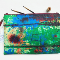 Rusty art print, durable bag, travel bag, cosmetic bag, zip bag, make up bag