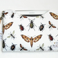 Made to measure Tablet sleeve, Moths beetles and bugs print.