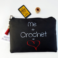 sewing Pouch, Mum gifts, Canvas Pouch, crochet,travel wallet,crafters gift,art