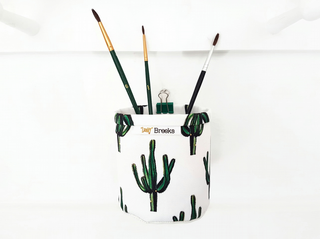 Mini Storage Bins,wall grid storage,Cacti,Cactus,botanical,organiser bin,