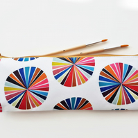 XLong brush bag,Art gifts,colour wheel,pencil case, student gift, teacher gift,