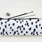 large pencil case,dalmatian print,dotty print,brush bag,Art gifts,pencil case.