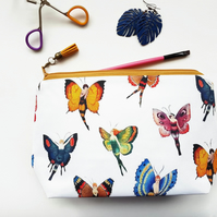 Large Make-up Bag,mothers day gift,wash bag,womens gift ideas,butterflies