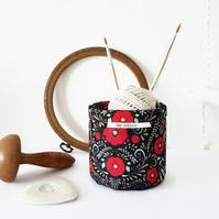 Mini Storage Bins,wall grid storage,folk floral print,organiser bin,