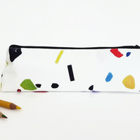 Terrazzo pouch,speckled pouch,marble chip style, colour pop pencil pouch