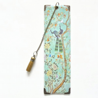 Gifts for book lovers, Luxury waterproof Bookmark, page marker, chinoiserie