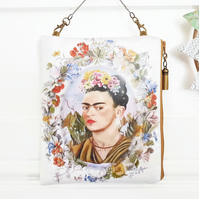 Hanging Oilcloth Bag,Frida Khalo,hanging storage,vegan bag,eco friendly pouch