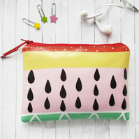 Tutti fruity fabric vegan wallet.