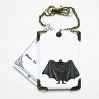 Dracula vegan leather Luggage tag.