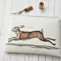 Hare wallet, animal friendly gifts, vegan pouches.