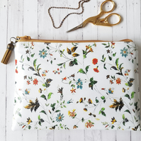 Botanical vegan wallet, pretty floral waterproof purse.