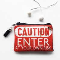 Business card credit pouch, business card Wallet , enter at your own risk