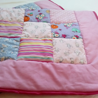 Pink Animal Baby Patchwork Quilt