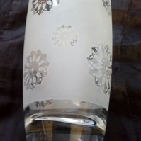 Decorative Frosted Drinking Glass