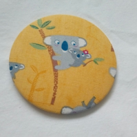 Koala Fabric Backed Pocket Mirror