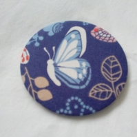 Butterfly Fabric Backed Pocket Mirror