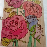 Storage Keepsake Box with Rose Design