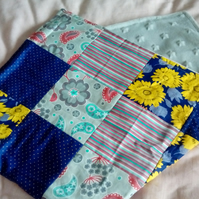 Retro Floral Patchwork Baby Blanket