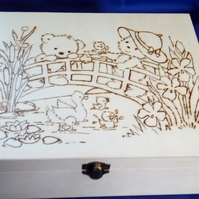 Bears on River Bridge Storage Box