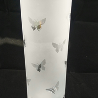 Butterfly Frosted Decorative Vase