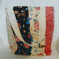 Crafting Cats Patchwork Tote Bag