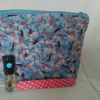 Monkey Design Make Up Bag