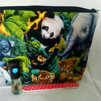 Jungle Animal Design Make Up Bag