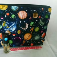 Out Of This World Space Design Make Up Bag