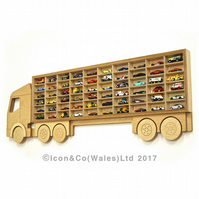 Toy Car Truck Shelf, Storage & Display Unit, Birch Plywood; UK Flat-Nose