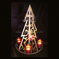 Metal Christmas Tree Candle Holder