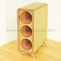 Birch Plywood Wine Rack - 3 Bottle Storage Tower, ALL NATURAL Finish