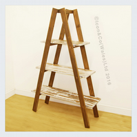 'A' Frame, Ladder Shelf Units, Storage Shelves - 3 Shelf Version