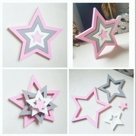 4 piece Stacking Wooden Stars