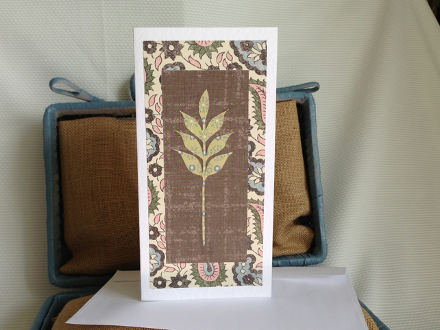 (0015)Wheat sheaf card.