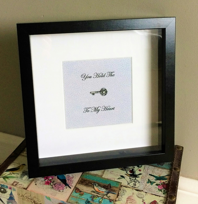 'Key To My Heart' Frame - 2 Colour options