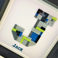 Lego Initial Frame - Wonderful keepsake for lego fans big and small!!