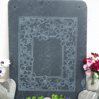 Beautiful Flower Border Slate